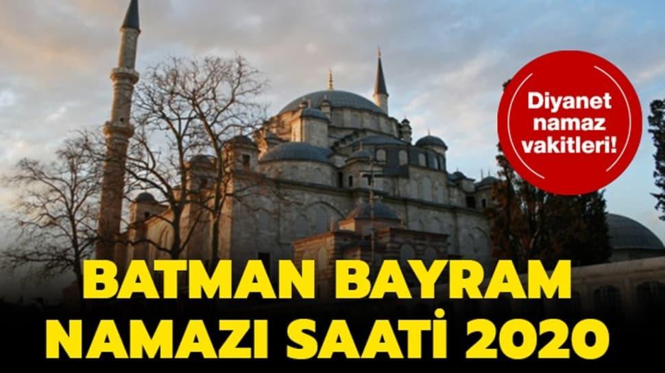 Batman bayramı namazı saati