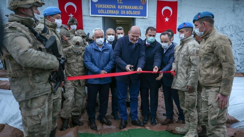 Bakan Soylu, İkiyaka Dağları'nda üs bölgesinin açılışını gerçekleştirdi, Mehmetçikle iftar yaptı