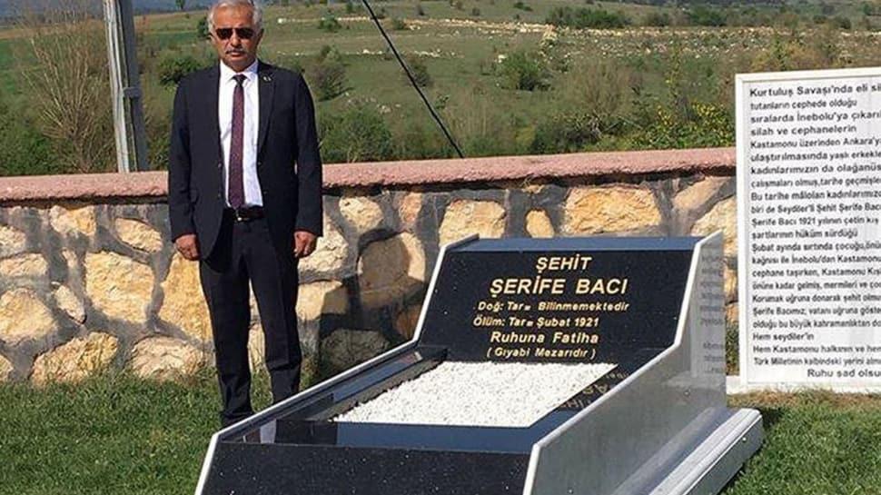 Kurtuluş Savaşı'nın kadın kahramanlarından Şehit Şerife Bacı için temsili mezar