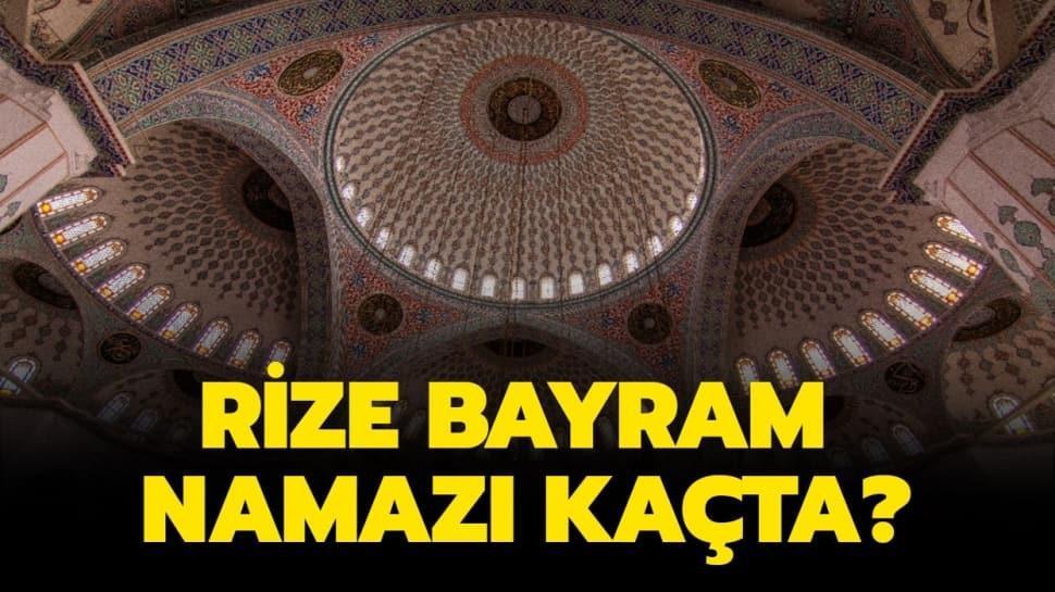 """Diyanet Rize Ramazan Bayramı namazı ve kuşluk vakti 2020! Rize bayram namazı saat kaçta"""""""