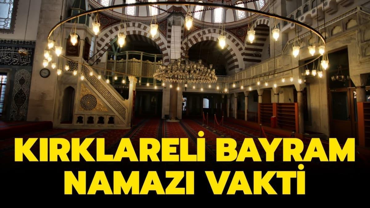 Diyanet Kırklareli Ramazan Bayramı namazı saati 2020!