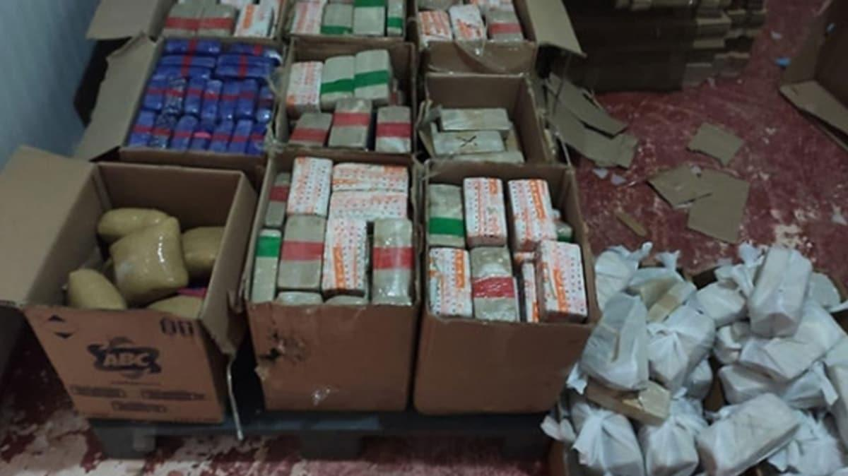 Piyasa değeri 25 milyon lira! 355 kilo eroin ele geçirildi