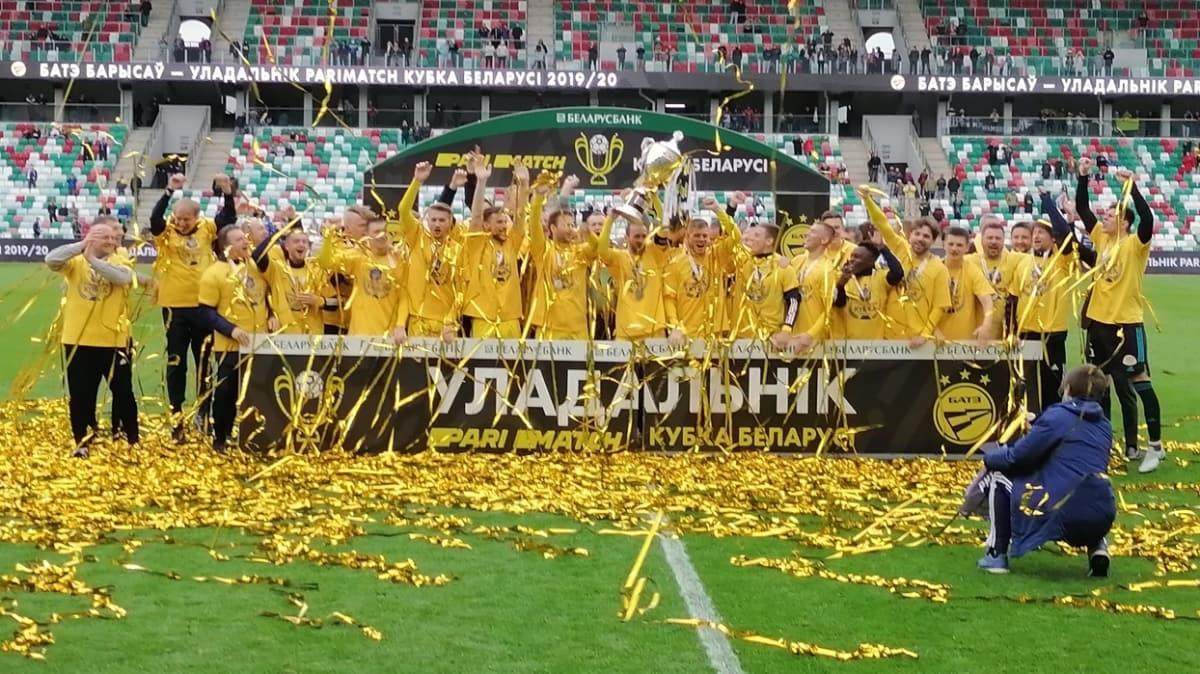 BATE Borisov, son saniye golüyle Belarus Kupası'nın sahibi oldu