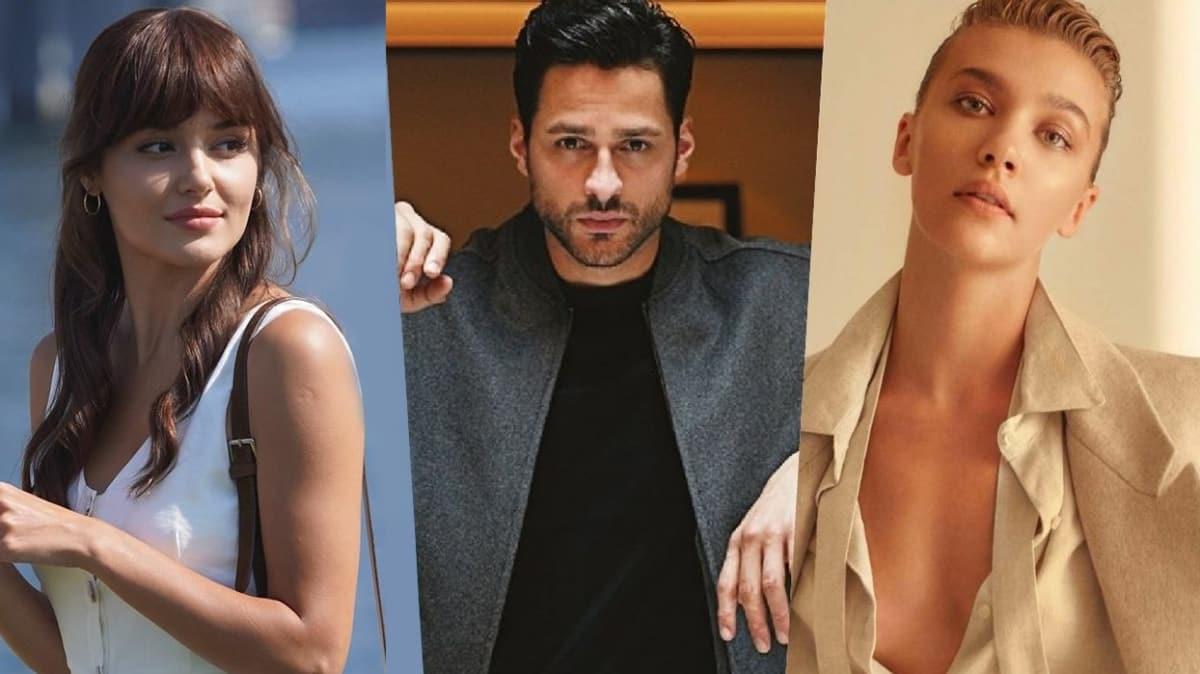 Ekin Mert Daymaz'ın eski sevgilileri Hande Erçel ve Melisa Döngel aynı dizide buluştu!