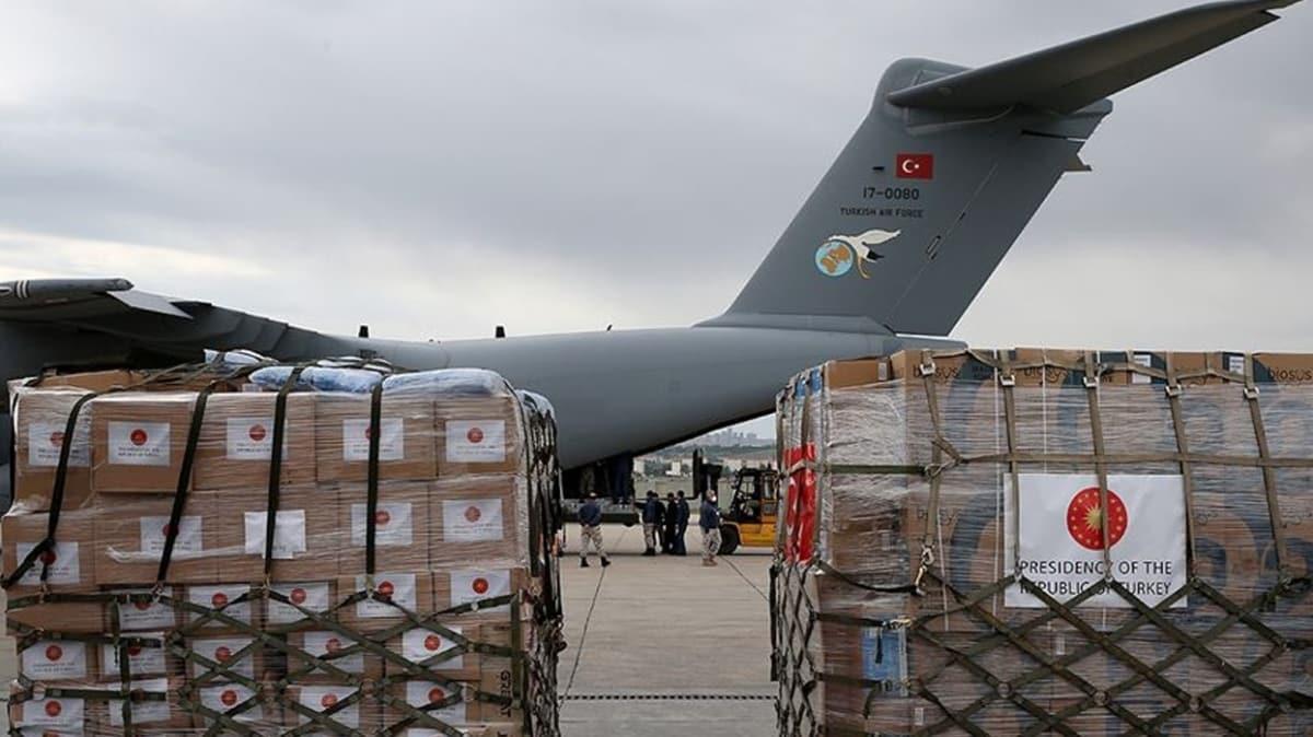 Tıbbi yardım malzemesi taşıyan Türk uçağı Çad'a ulaştı