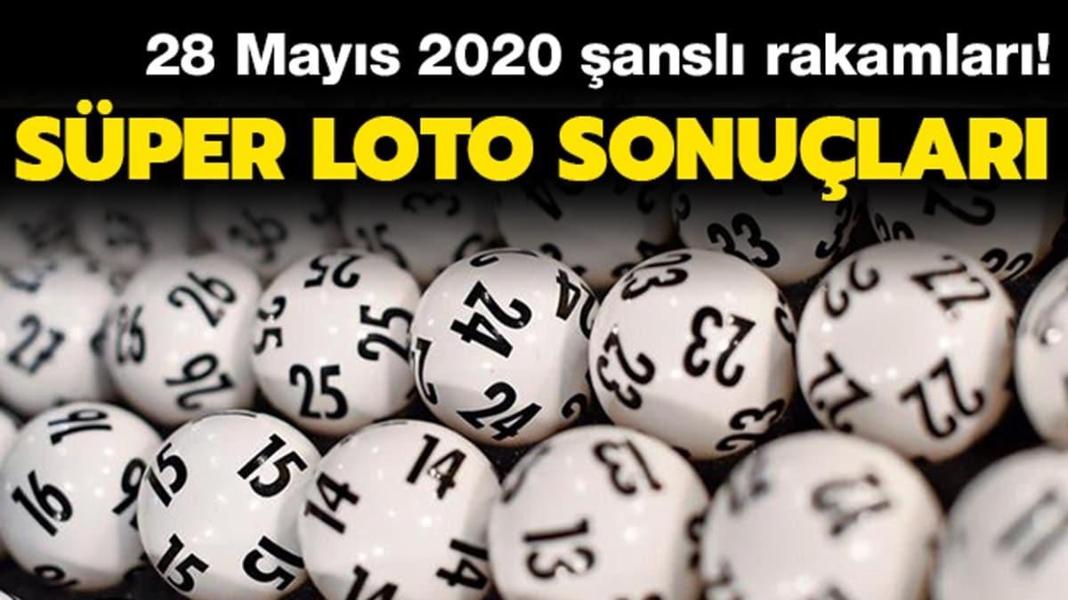 Süper Loto sonuçları 28 Mayıs 2020 | Süper Loto çekiliş sonuçları açıklandı! İşte açıklanan rakamlar...