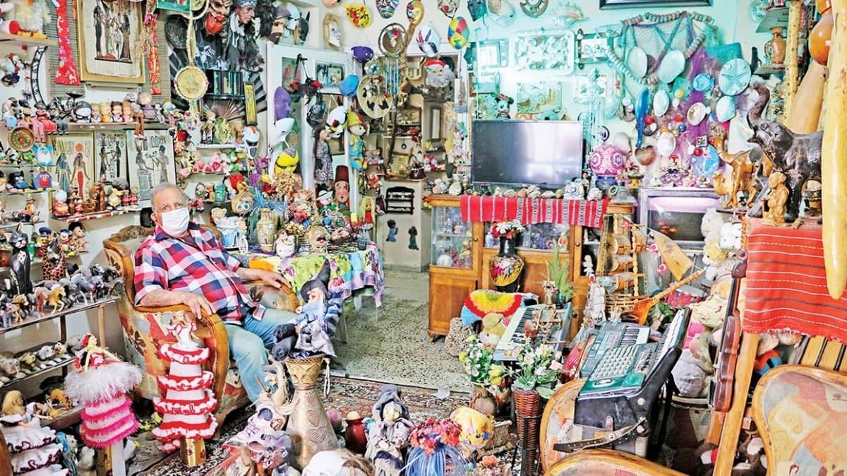 Evini oyuncak müzesi yaptı