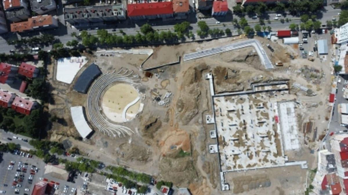 Trabzonda yapımı süren Millet Bahçesi eylül ayında kapılarını açacak