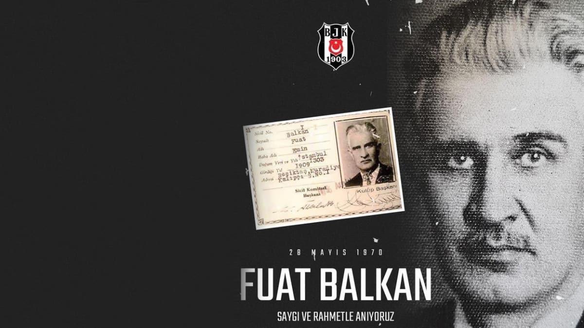 Beşiktaş, Fuat Balkan'ı andı