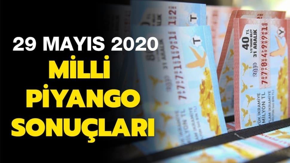 Milli Piyango sonuçları 29 Mayıs 2020