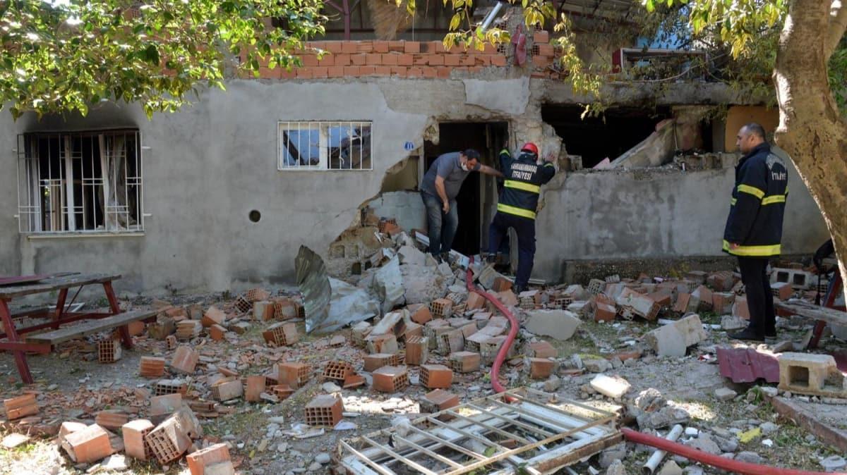 Kahramanmaraş'ta doğalgaz bomba gibi patladı: 1 ağır yaralı