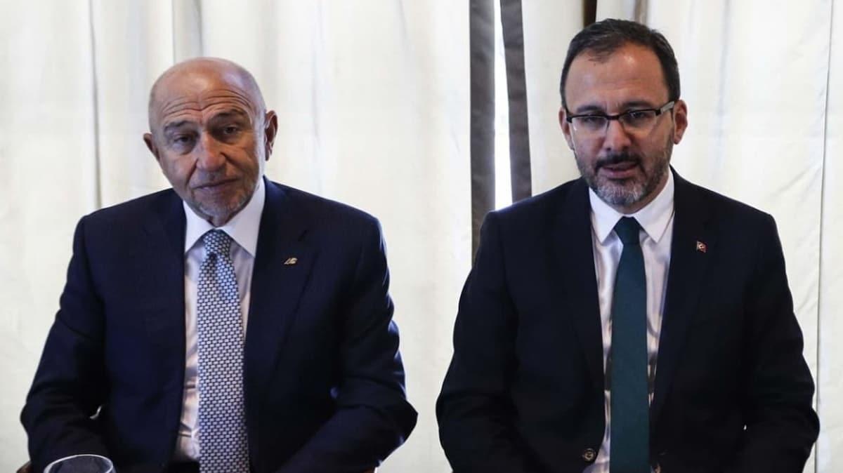 Bakan Kasapoğlu'ndan Nihat Özdemir'e 'geçmiş olsun' telefonu