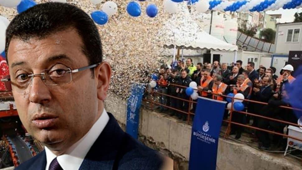 İBB Başkanı İmamoğlu 'Bugün yapımına başladık' demişti, işin aslı ortaya çıktı!