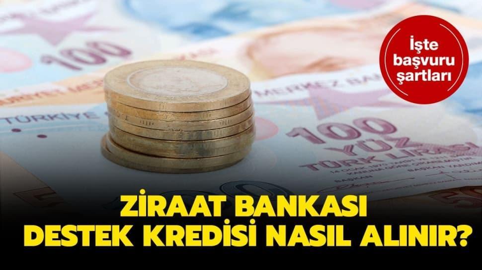 """Ziraat Bankası 6 ay ödemesiz kredi şartları nedir"""" Ziraat Bankası destek kredisi başvurusu nasıl yapılır"""""""