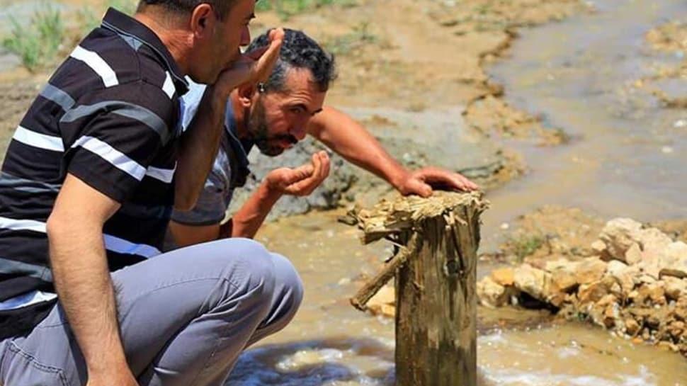Bahçesine sondaj vurdurdu, doğal maden suyu çıktı