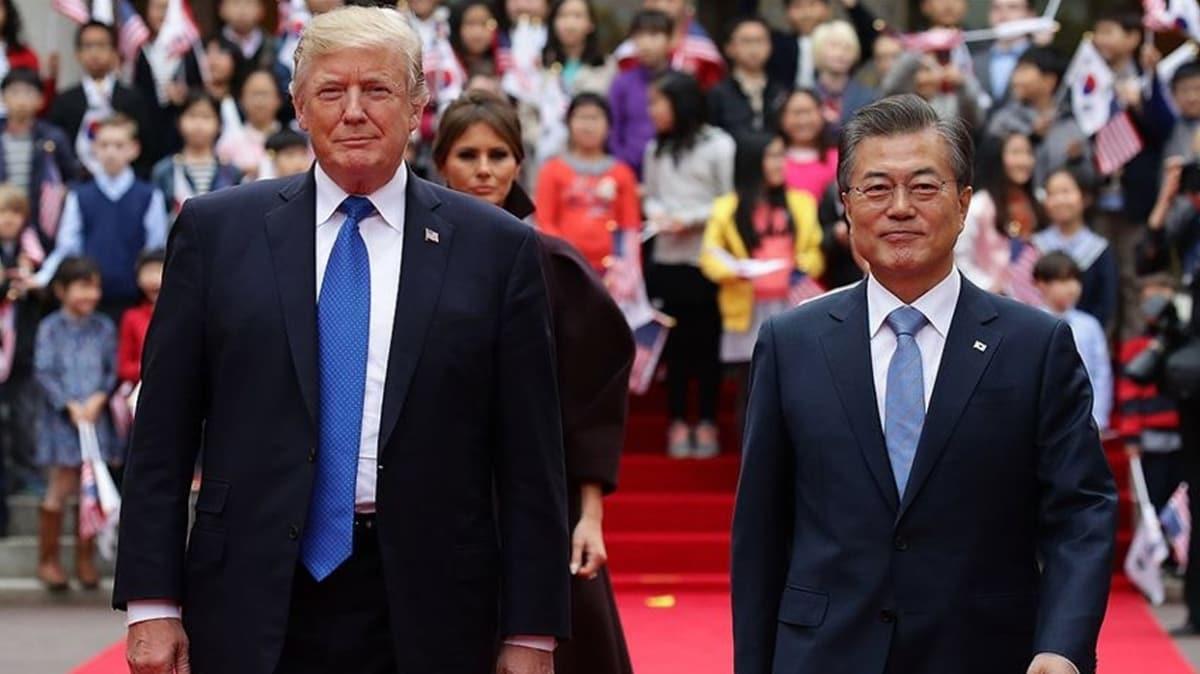 Trump, Güney Kore Devlet Başkanı Moon ile G-7 Zirvesi'ni görüştü