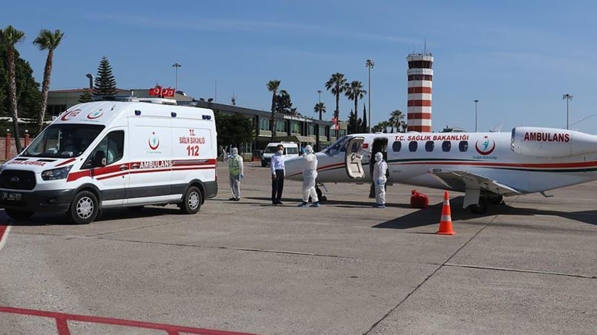 Koronavirüs hastası Türk vatandaşı ambulans uçakla Rusya'dan yurda getirildi