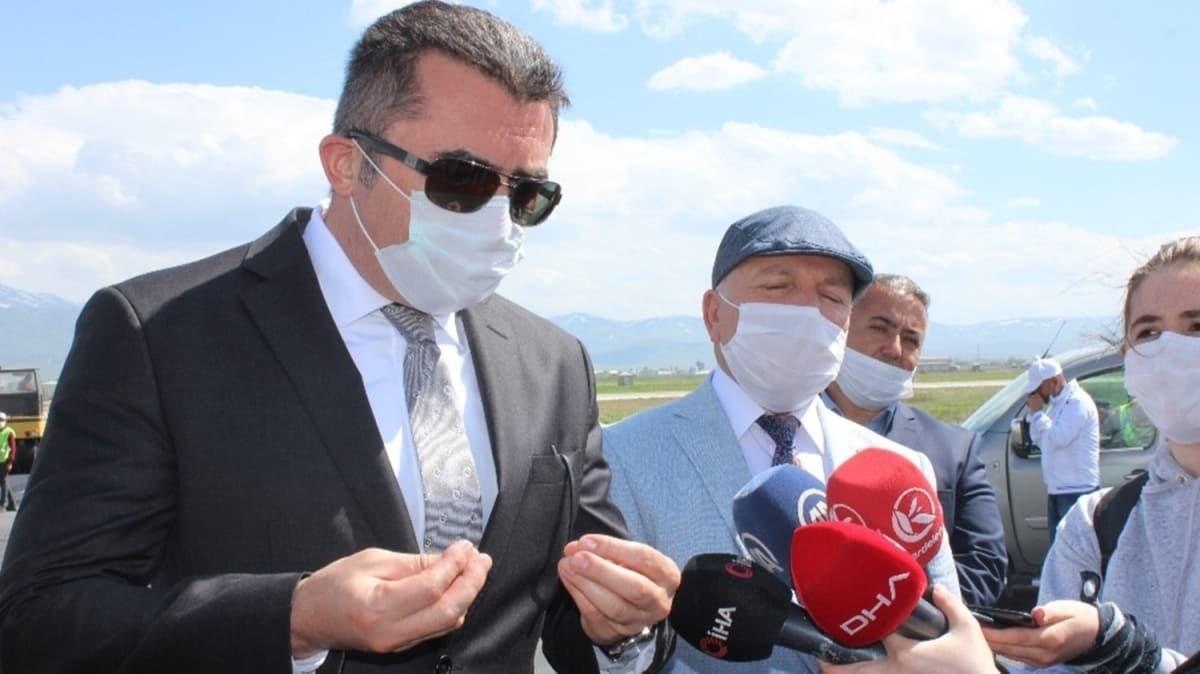 Erzurum Valisi Memiş, havalimanının durumunu görünce firmaya sert tepki gösterdi