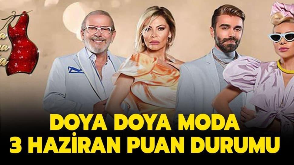 """Doya Doya Moda gün birincisi ve sonuncusu kim oldu"""" Doya Doya Moda 3 Haziran puan durumu tablosu!"""