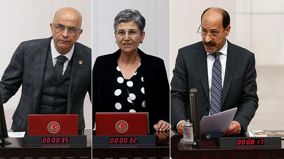 CHP ve HDP'li üç ismin milletvekilliği düşürüldü