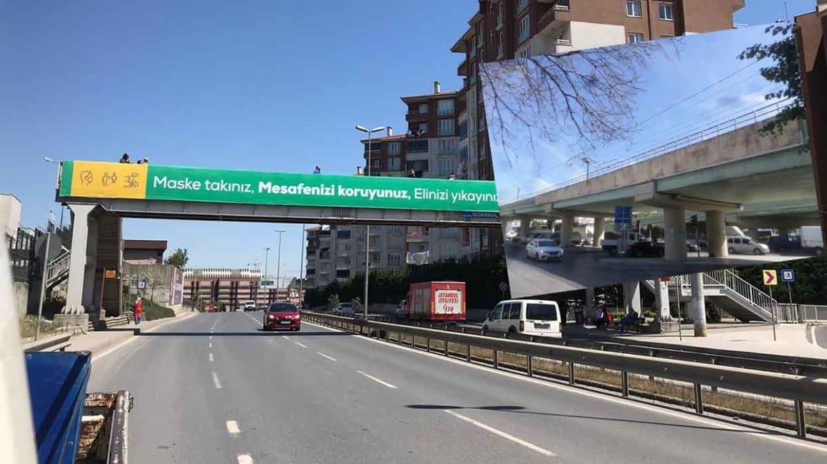İBB, Esenler Belediyesi'nin koronavirüs afişlerini söktü