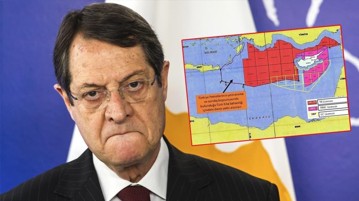 Türkiye'nin yayımladığı harita Rum lider Anastasiadis'i panikletti