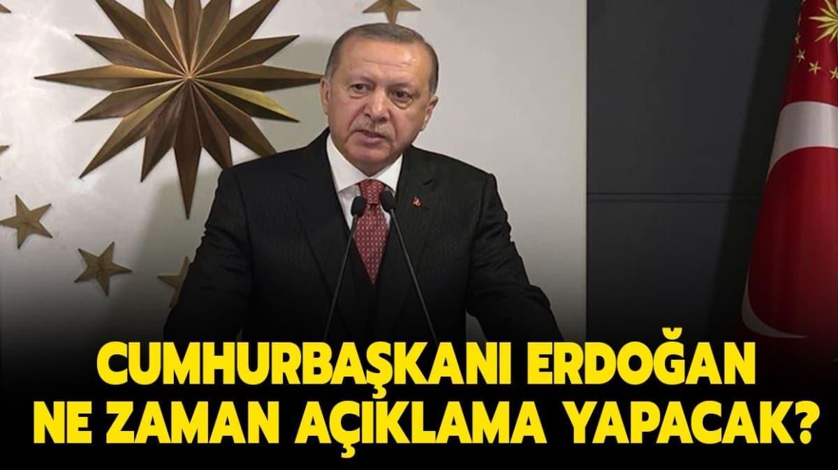 Cumhurbaşkanı Recep Tayyip Erdoğan açıklamaları...