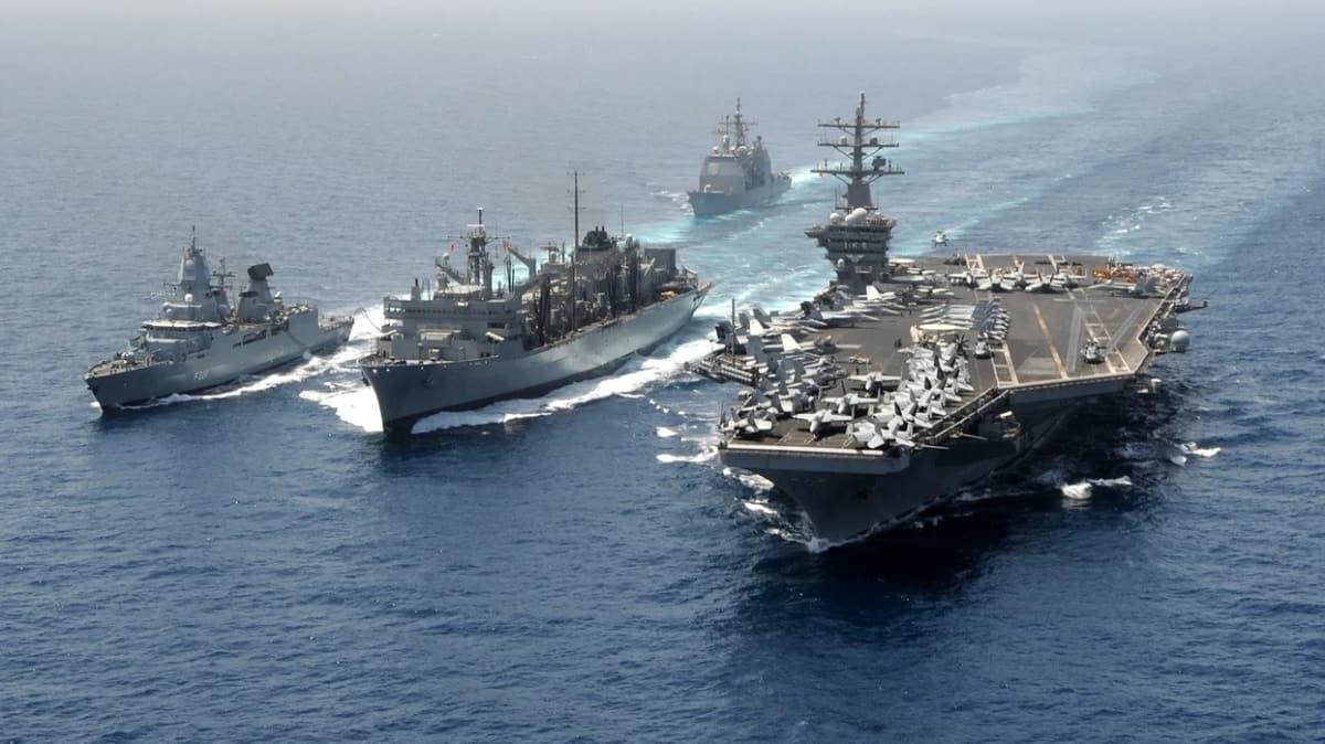 ABD'den Çin'e yeni misilleme... Uçak gemileri Hint Pasifik'te!