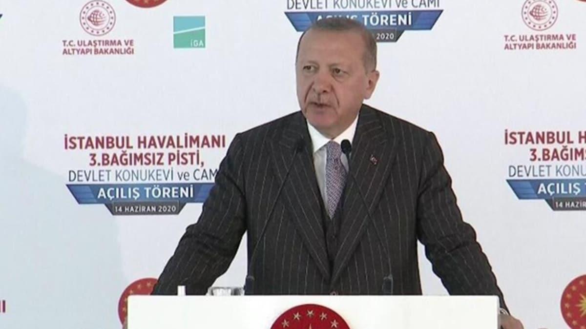 Başkan Erdoğan İstanbul Havalimanı 3. Bağımsız Pisti açılışında konuştu: Ülkemizin dört bir yanını eserlerle donattık