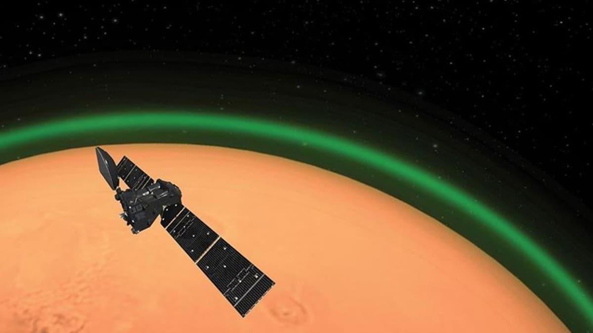 Mars atmosferinde zümrüt yeşili bir parıltının yayıldığı keşfedildi