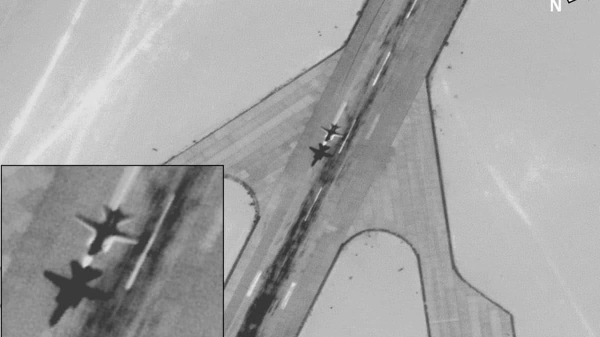 AFRICOM Rus savaş uçaklarının Libya'daki Cufra Üssü'nden kalkış anına ait fotoğrafları yayınladı
