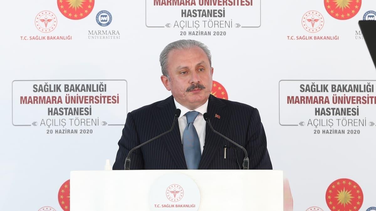 TBMM Başkanı Şentop, Marmara Üniversitesi Prof. Dr. Asaf Ataseven Hastanesi Açılış Töreninde konuştu