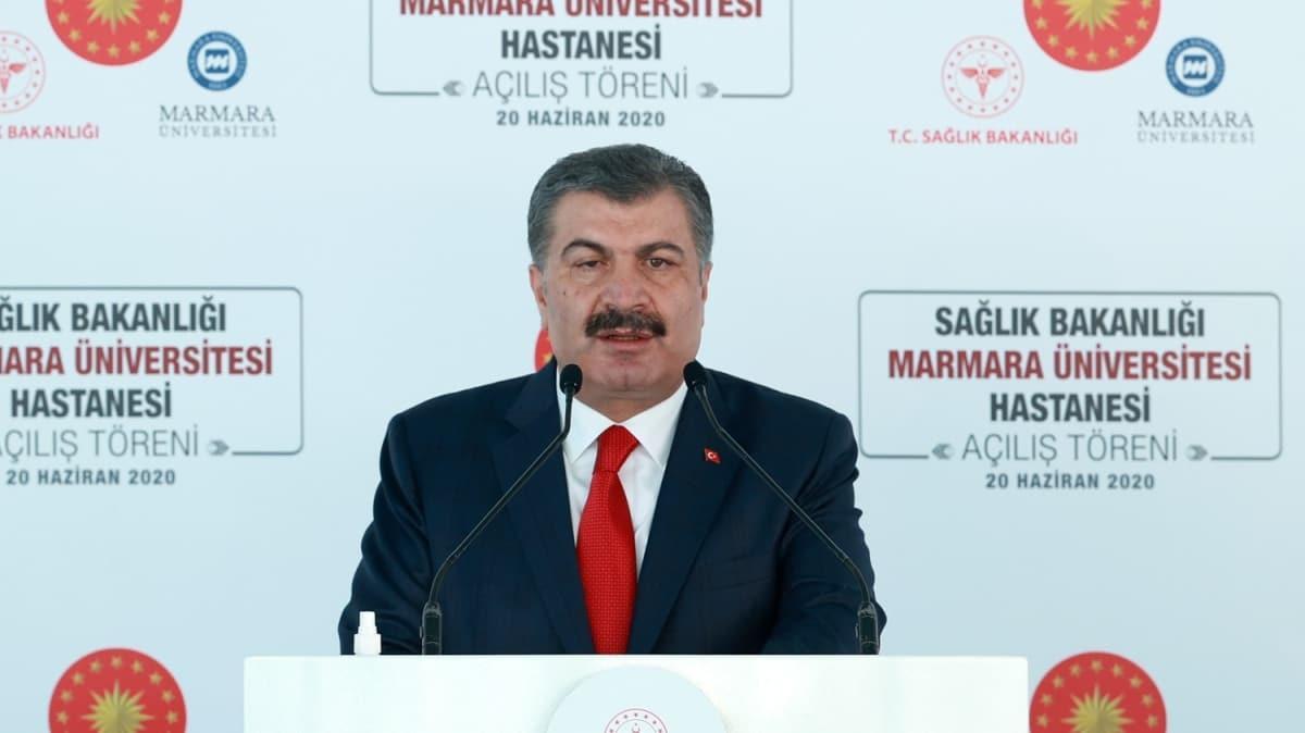 Bakan Koca, Marmara Üniversitesi Prof. Dr. Asaf Ataseven Hastanesi Açılış Töreni'nde konuştu: Salgın riski ortadan kalkmadı!