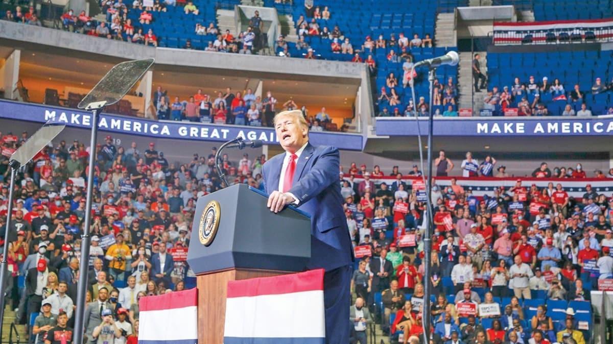 ABD Başkanı Trump ilk mitingde boş salona konuştu