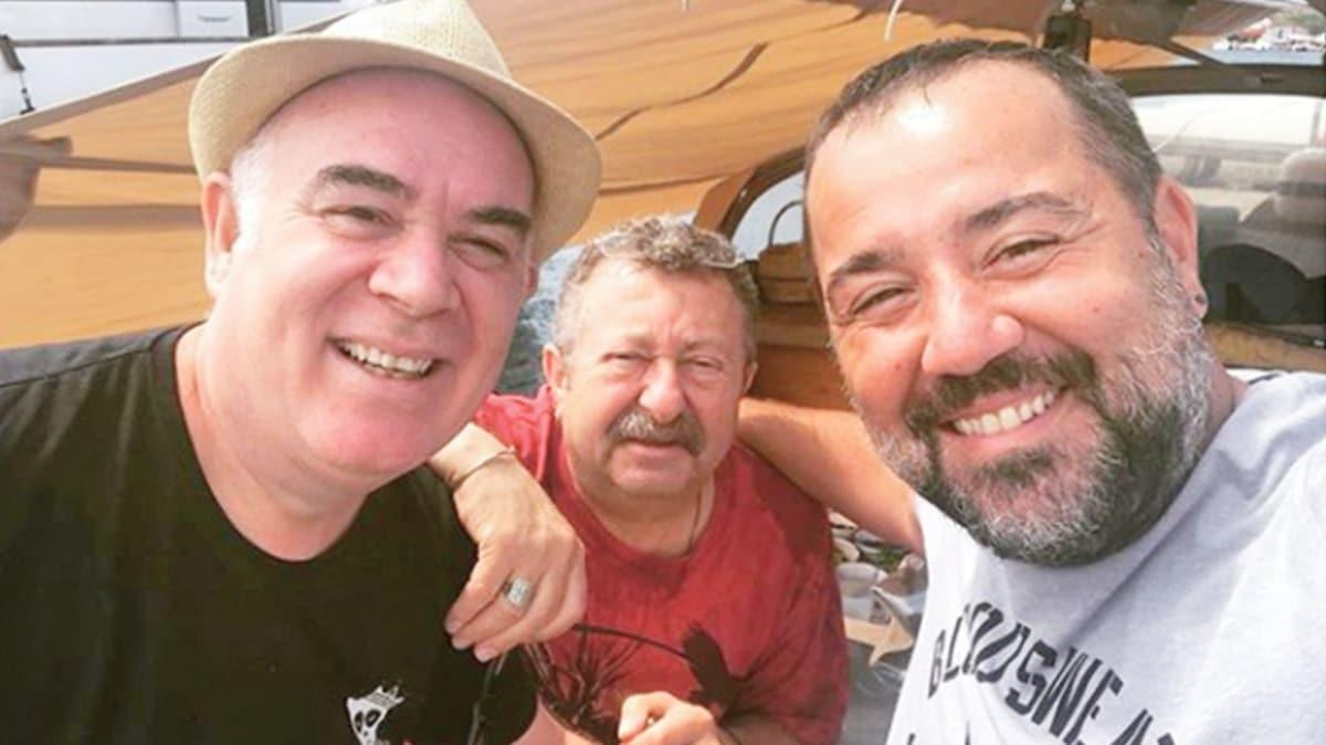 Ata Demirer'e Erkan Can ve Güvenç Kıraç'tan sürpriz ziyaret! Babalar Bozcaada'da buluştu