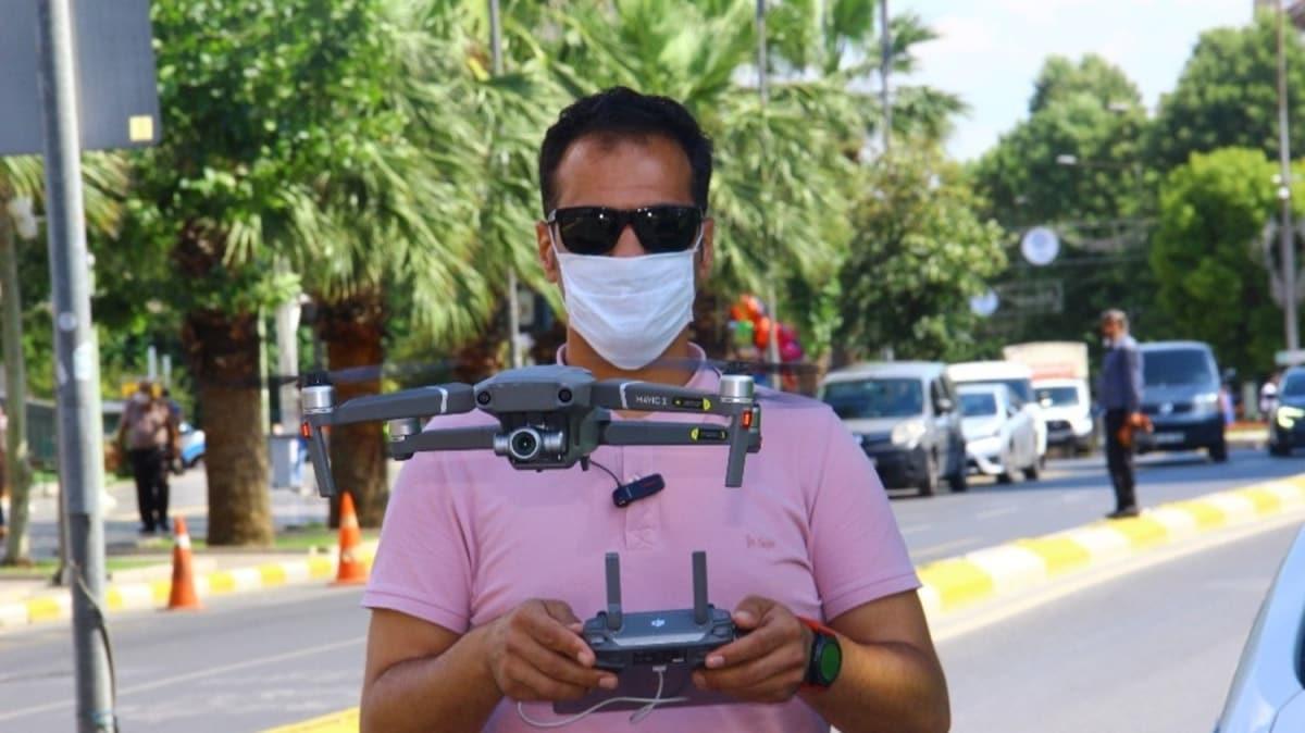 Polis dronu trafik kusurlarını kayda aldı, dakikada 176 lira 47 kuruş ceza kesildi