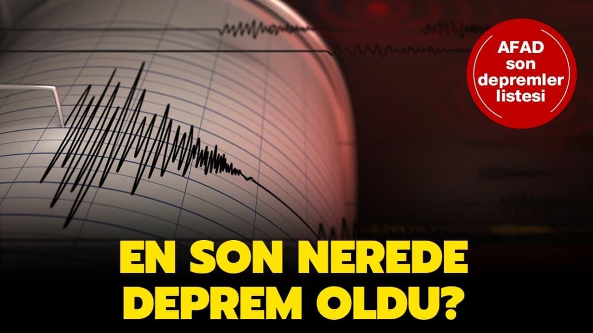 AFAD 22 Haziran 2020 son deprem listesi!