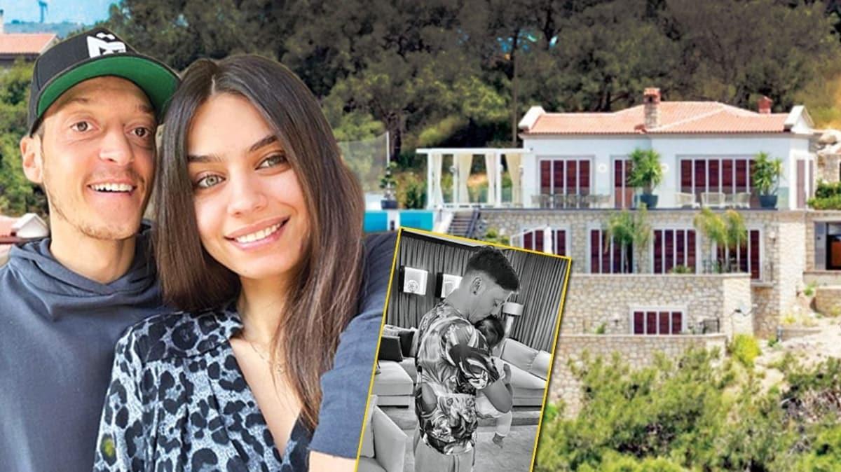 Amine Gülşe ile Mesut Özil'den kızları Eda'yla Çeşme'de ilk tatil!