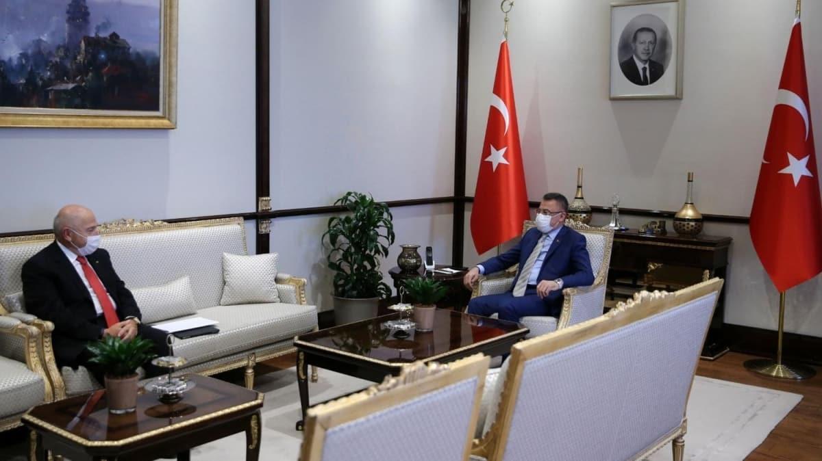 Cumhurbaşkanı Yardımcısı Fuat Oktay, TFF Başkanı Nihat Özdemir'i kabul etti