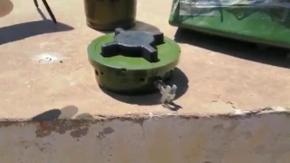 Hafter milislerinin tuzakladığı el yapımı patlayıcılar görüntülendi