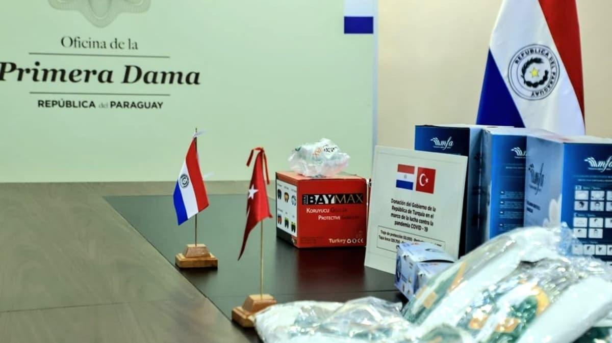 Türkiye'nin koronavirüsle mücadele için gönderdiği yardımlar Paraguay'a ulaştı