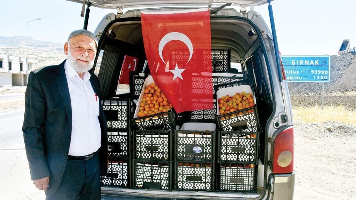 Elmacı Dede Mehmetçik için yollarda