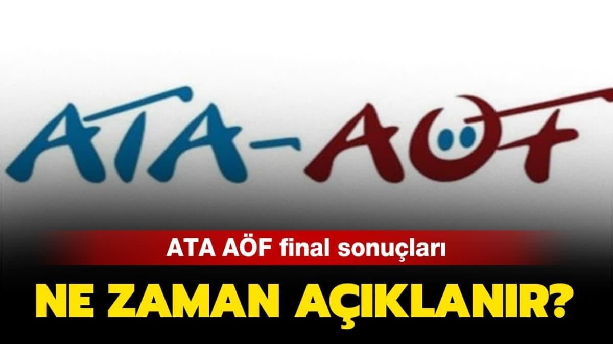 "ATA AÖF online final sınavları bitti mi"""
