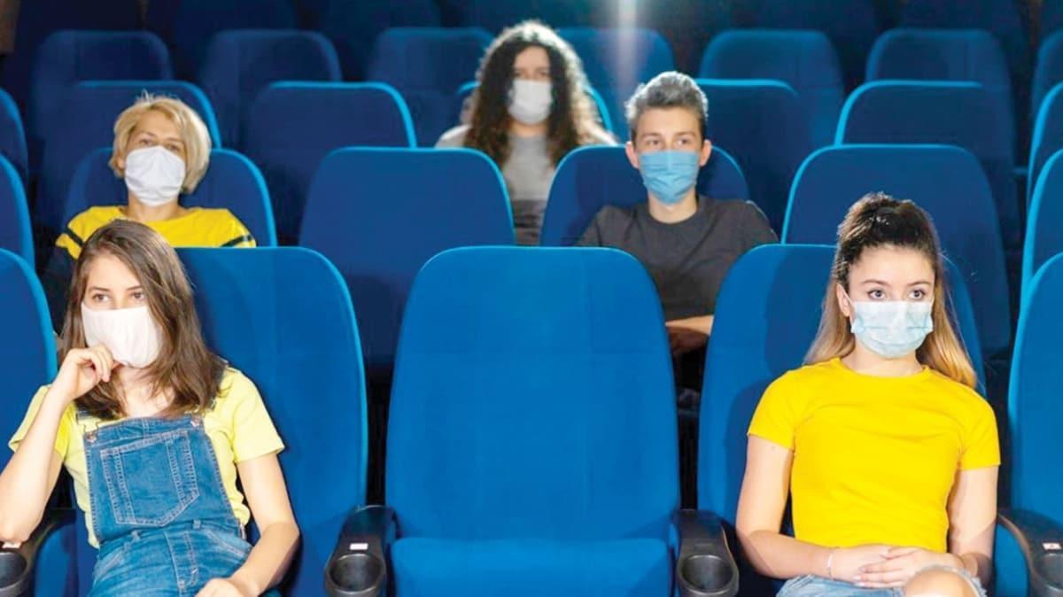Sinemada film bitene kadar maske