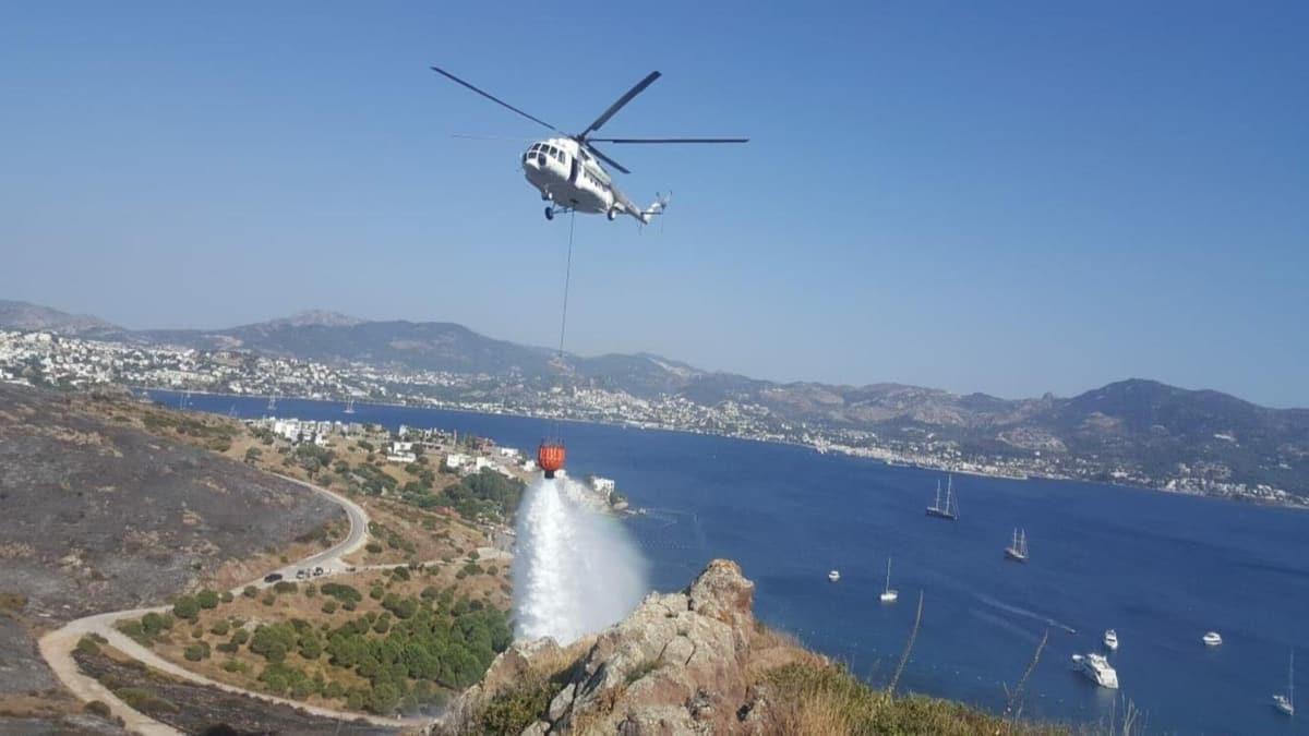 Bodrum'da makilik alanda çıkan yangın büyük paniğe neden oldu