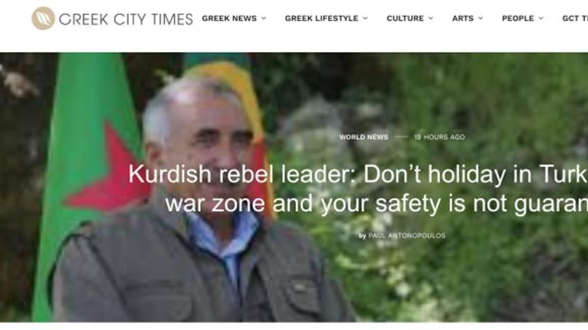 Türkiye'nin başarısı rahatsız etti... Yunan medyasından PKK propagandası!