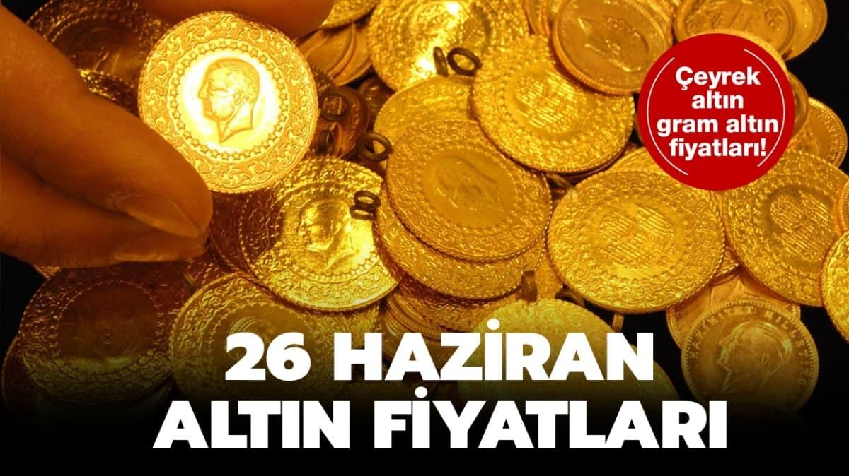 26 Haziran 2020 tarihli altın fiyatları!