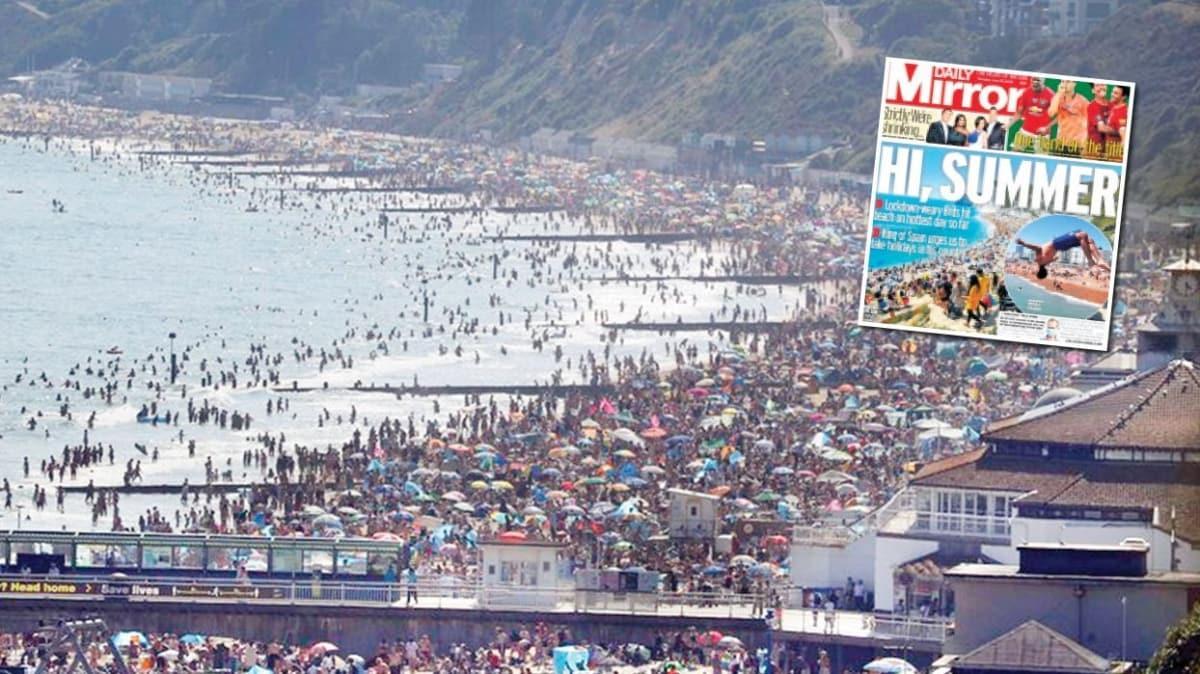 Sıcaklık arttı, plaja akın ettiler! 43 bin kişi ölmemiş gibi