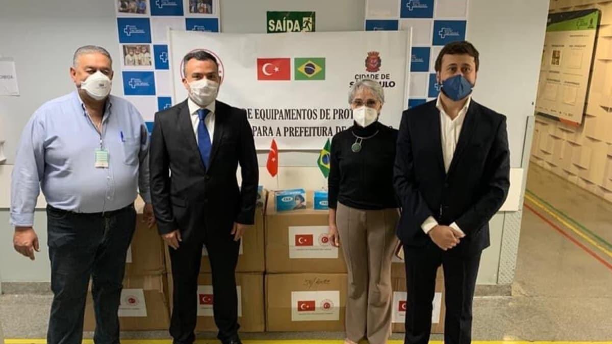 Türkiye'den Brezilya'nın salgınla mücadelesine maske desteği