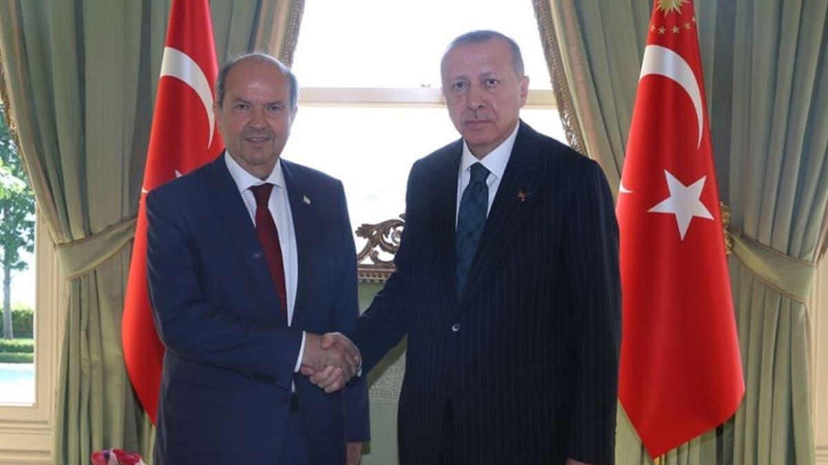 Başkan Erdoğan, KKTC Başbakanı Tatar ile görüştü